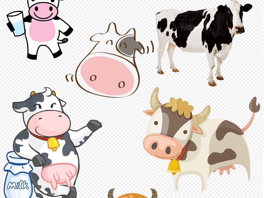 手绘小牛动物素材下载 位图, rgb格式高清大图,使用软件为 photoshop