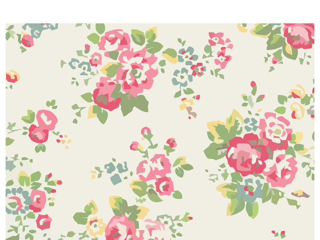 植物花卉素材手绘玫瑰牡丹印花