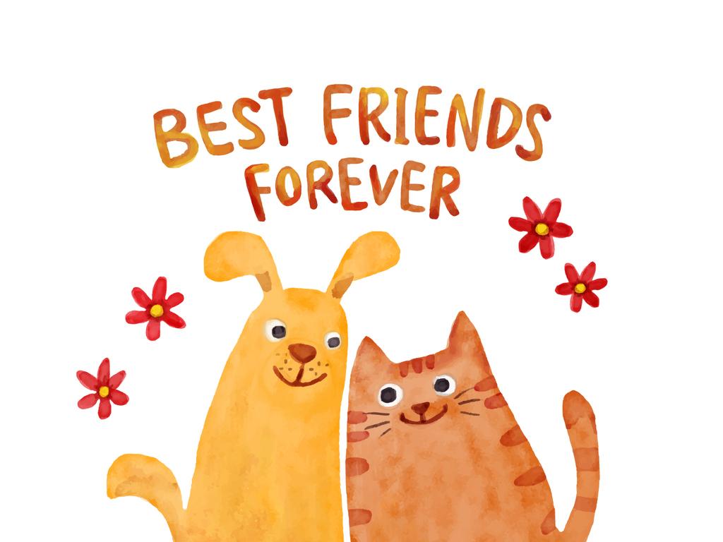 水彩手绘卡通猫咪小动物抱枕矢量印花图案图片