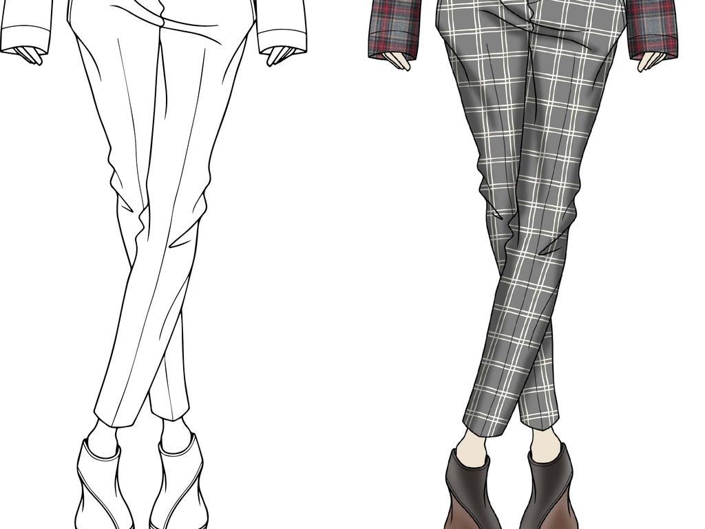 手绘裤子创意图案