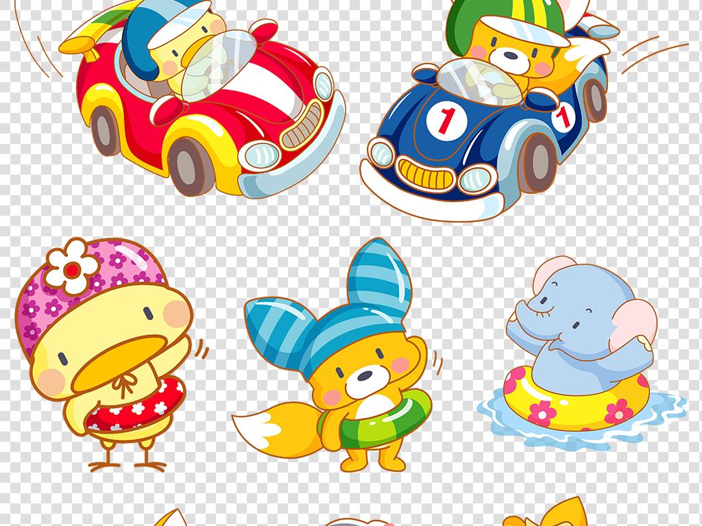 设计元素 背景素材 卡通边框 > 卡通素材插画素材卡通动物png透明图片