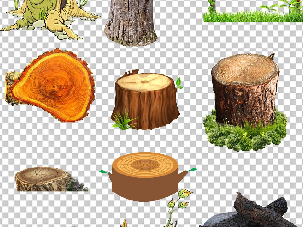 png免扣木头木桩年轮素材(图片编号:16676572)_装饰