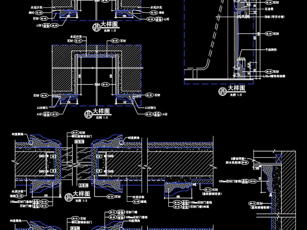 示意图样图建筑图纸祥图纸建筑建筑结构结构节点结构图图房子cad图cad