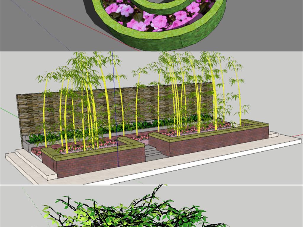 种植景观花花藤花框盆景小品公园座椅