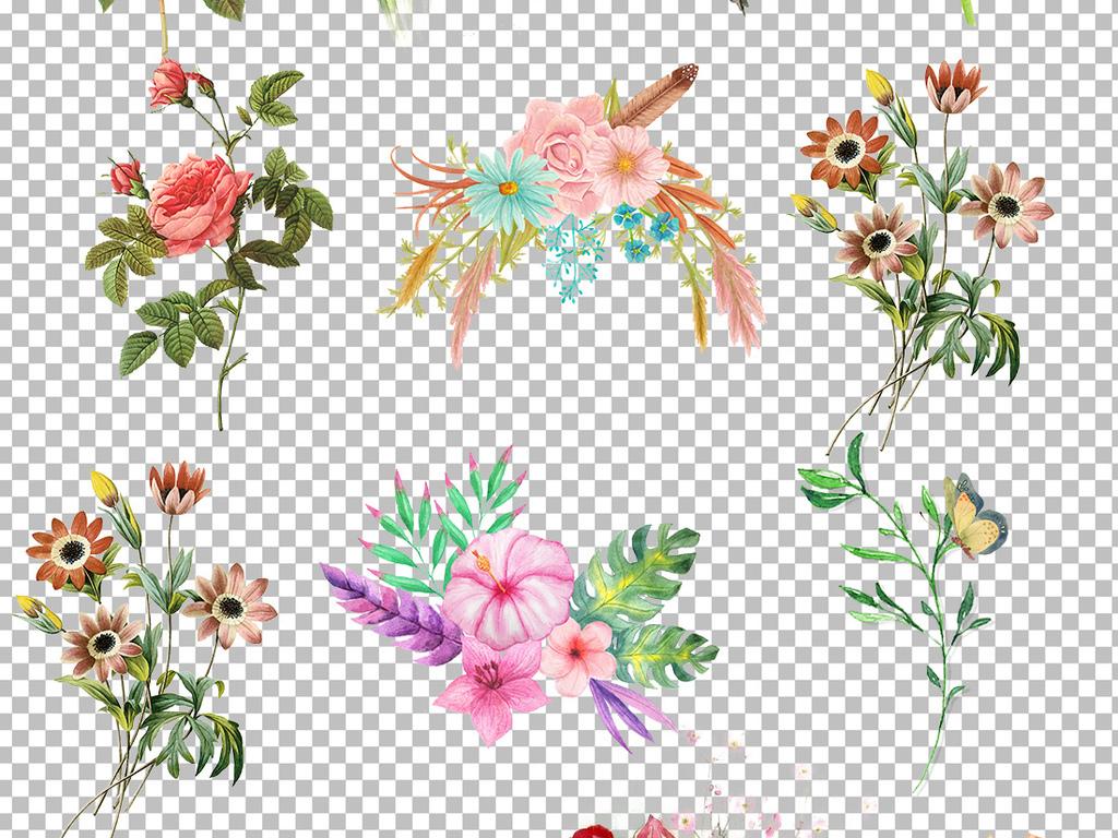 设计元素 其他 其他 > 80款唯美png手绘花素材  版权图片 设计师