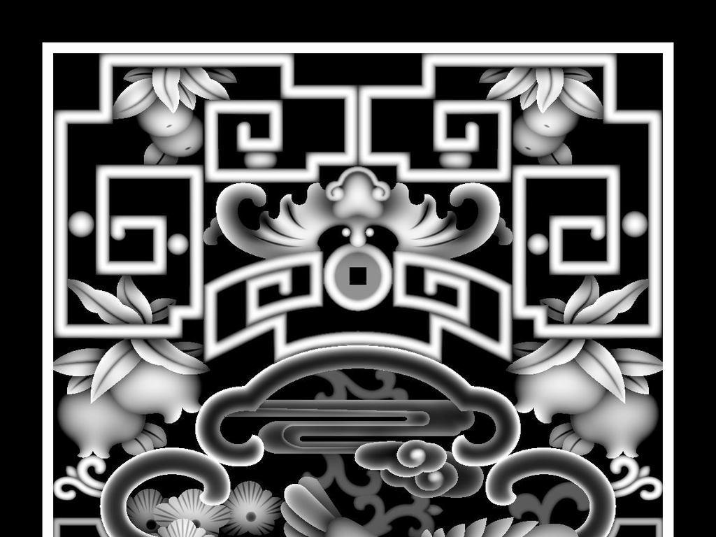 松鹤灰度图高清图bmp格式图片