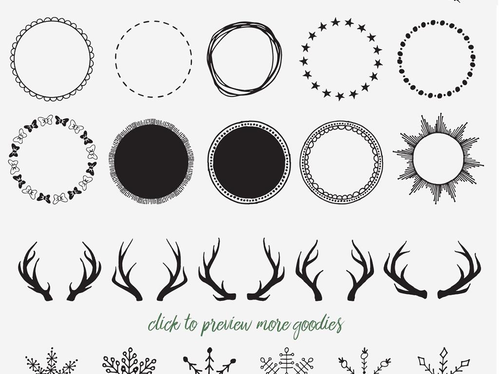 手绘插画设计素材东方设计元素韩国设计元素贺卡设计元素中国元素设计