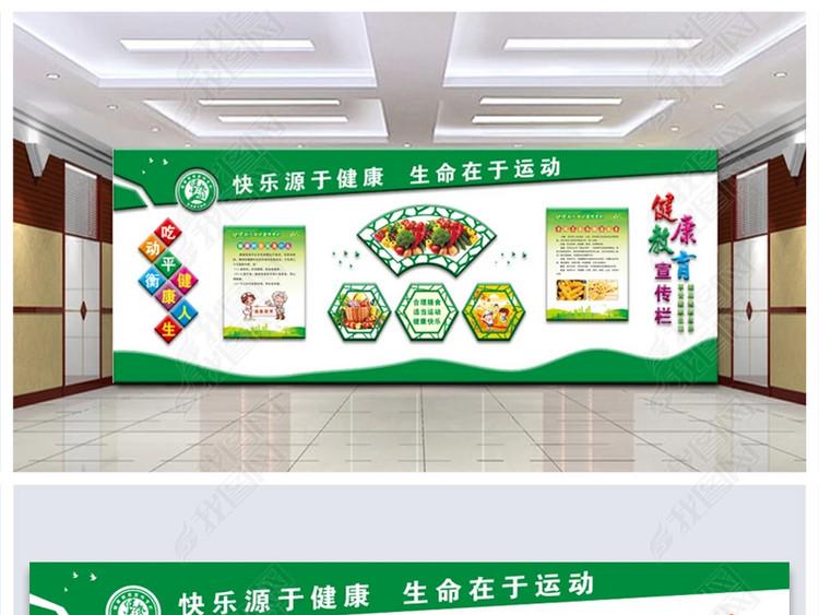 社区医院健康教育宣传栏文化墙布置图