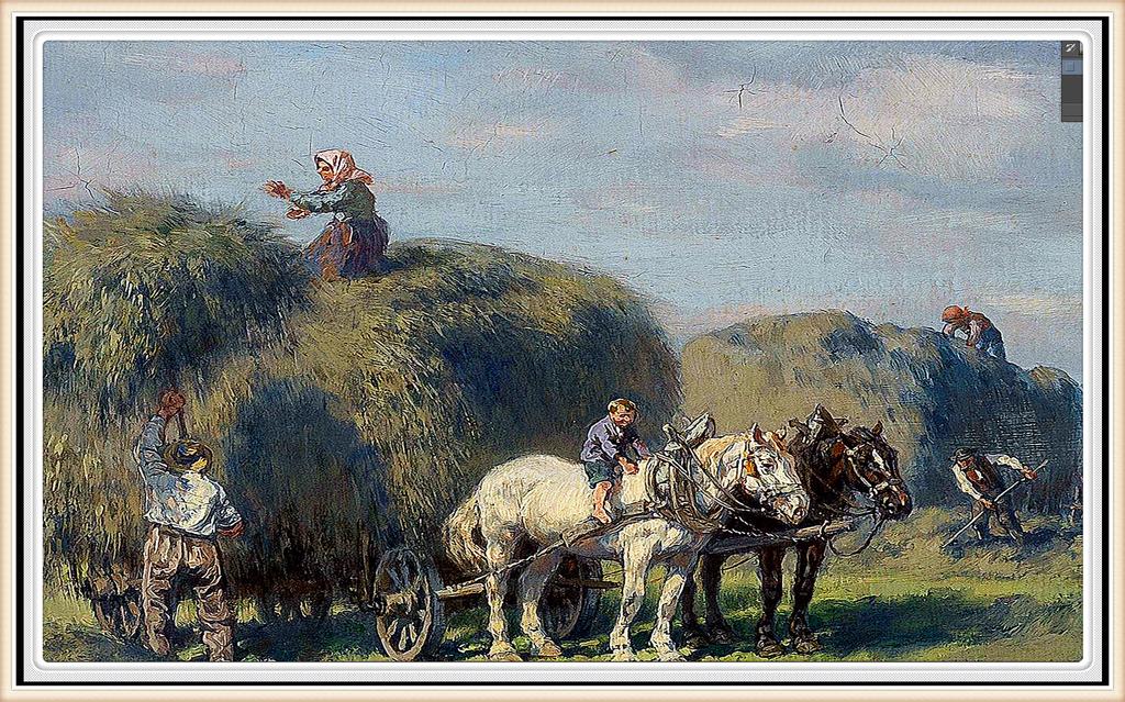 梵高油画风景作品彩色稿