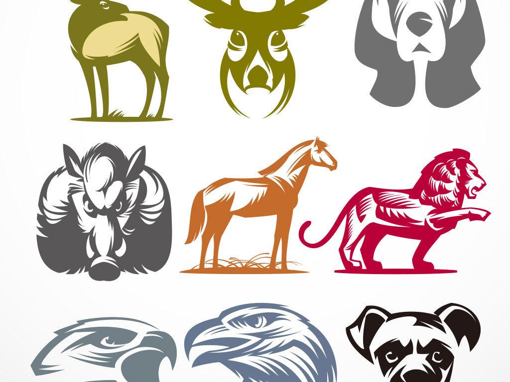 长颈鹿猫咪组合森林黑白无框画抽象无框画极简时尚动物无框画抽象图案
