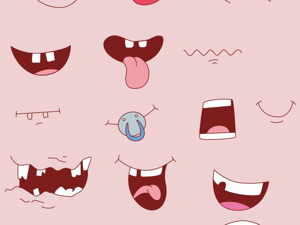 张大嘴巴手绘嘴巴卡通大嘴巴嘴巴卡通人物嘴巴美食吃货海报吃货图片