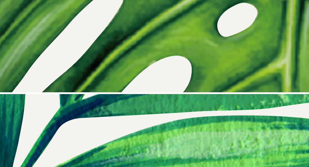 北欧风格手绘热带植物芭蕉叶装饰画无框画