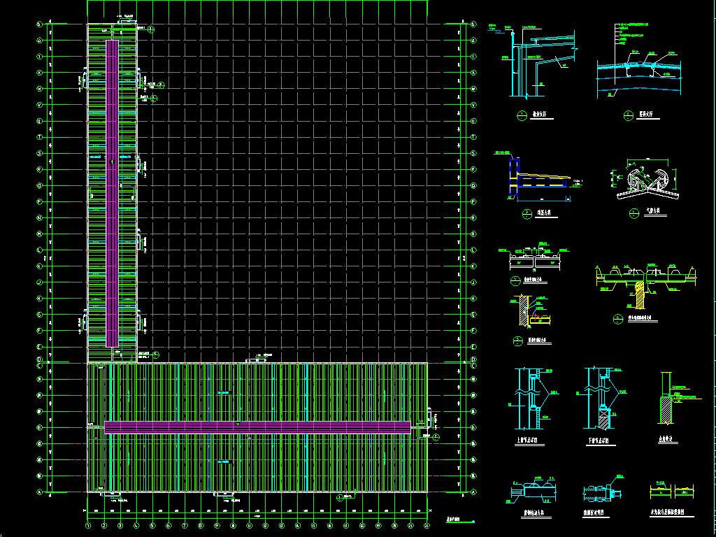钢结构工厂cad施工图平面设计图下载(图片6.35mb)_cad