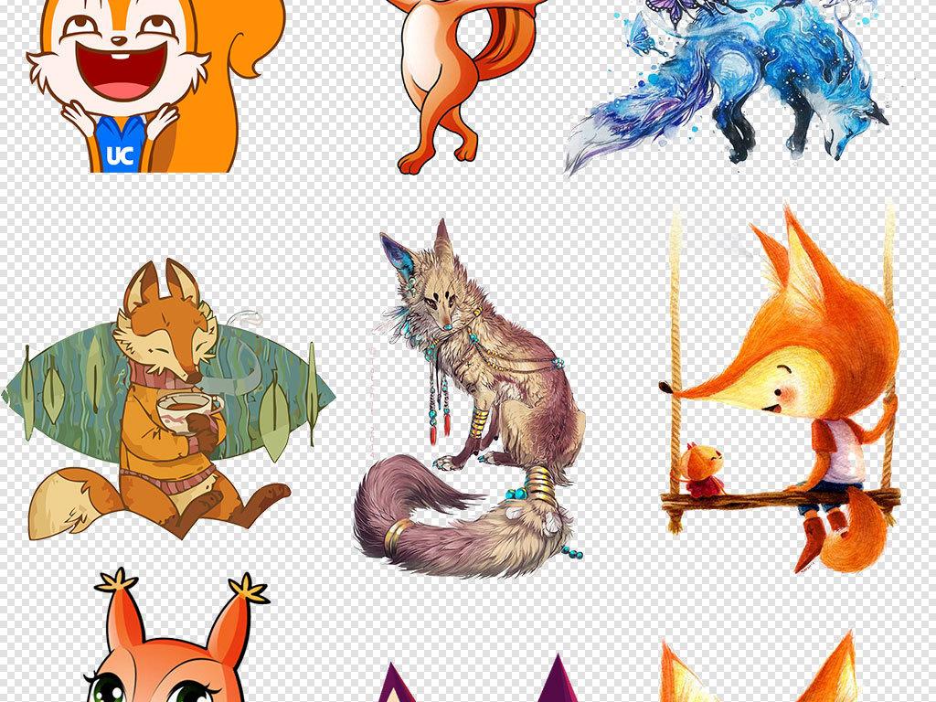 png)手绘卡通现代狐狸精                                  狐狸狡猾