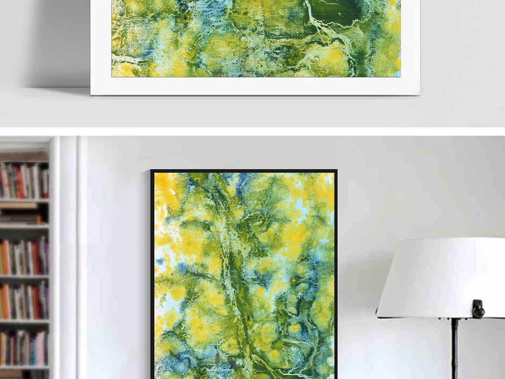斑驳老旧发黄编织袋欧美复古抽象室内装饰画