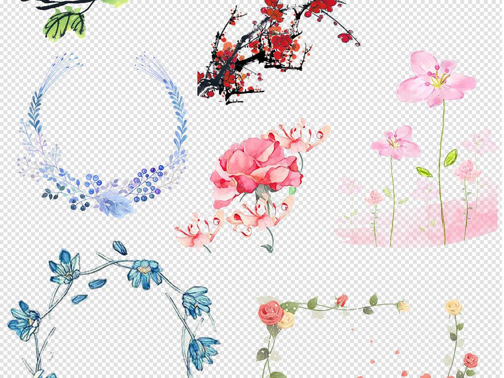 卡通手绘可爱绿色小清新风格花纹边框背景图片下载png素材 效果素材