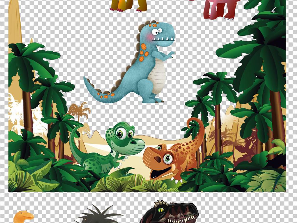 小动物素材可爱卡通恐龙设计可爱卡通素材手绘卡通卡通手绘设计素材手