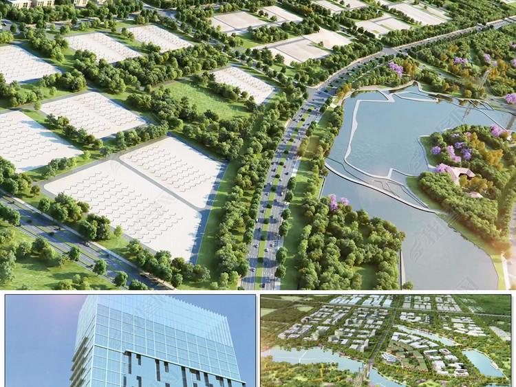 城市规划发展建筑生长三维高清视频素材