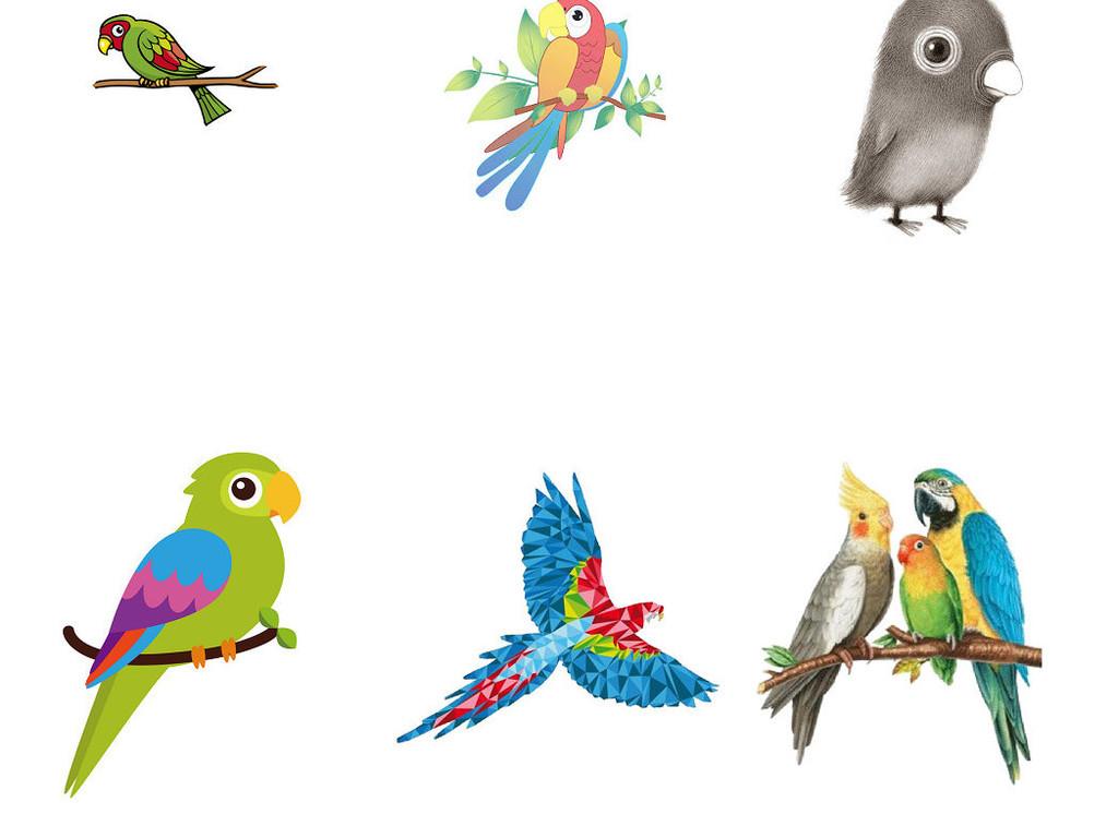 创意可爱卡通鹦鹉png图片2