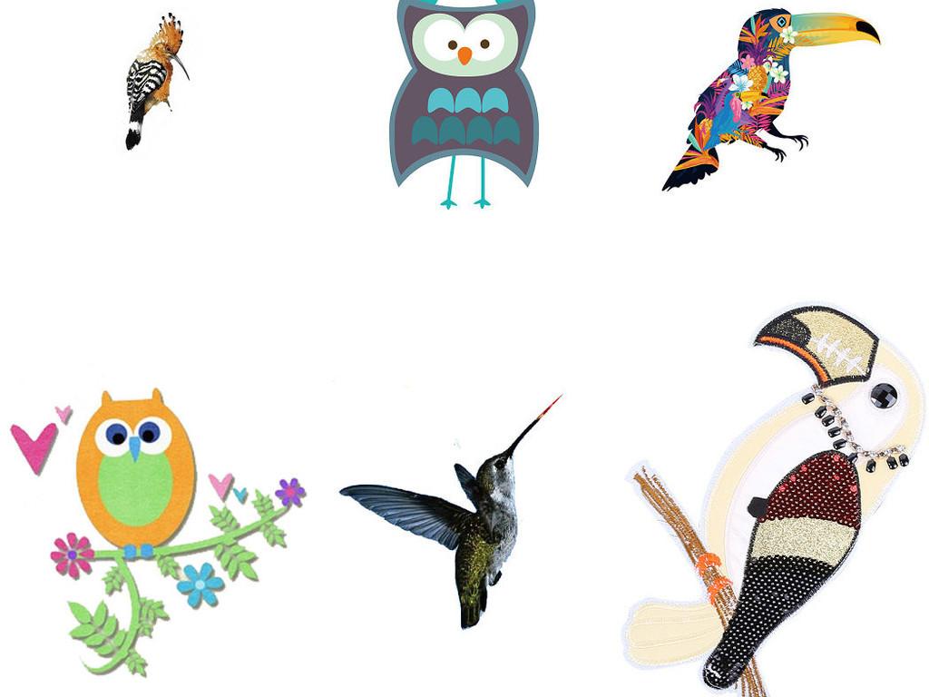 动物png鸟类啄木鸟海报设计素材1