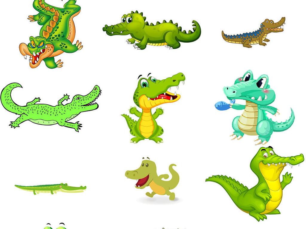 可爱小鳄鱼图片卡通素材2_模板下载(4.47mb)_效果大全