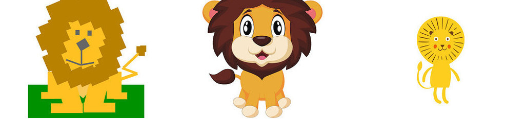 可爱卡通简笔画动物狮子png图片3