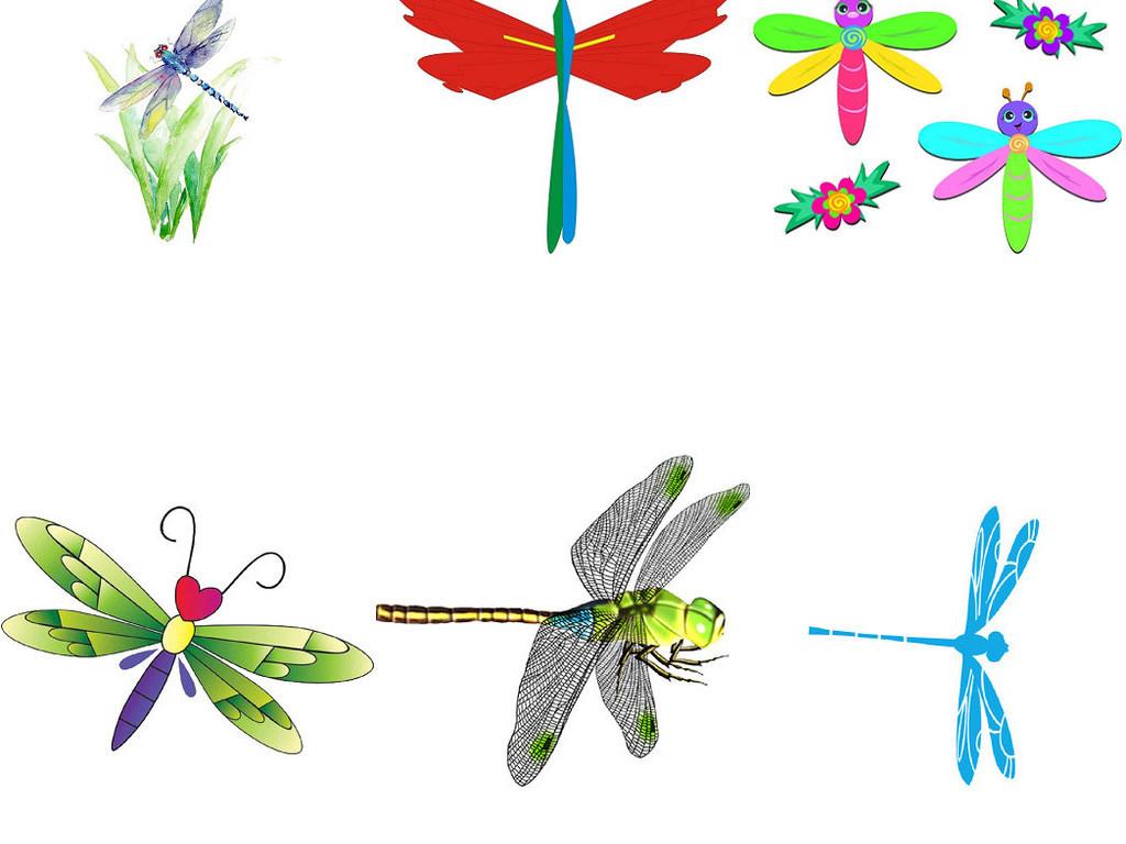 可爱卡通蜻蜓昆虫类动物png免抠素材2