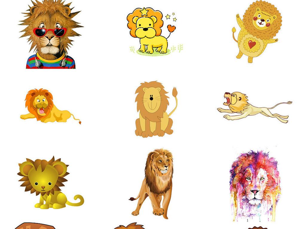 可爱卡通狮子图片素材png系列2
