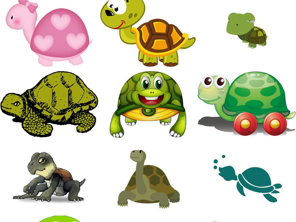 可爱卡通乌龟卡通爬行动物png免抠图3