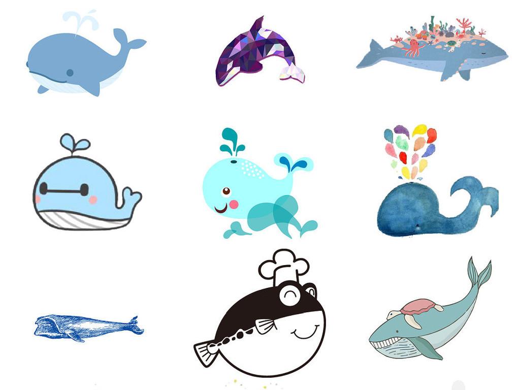 可爱卡通小动物鲨鱼大鱼吃小鱼png素材1