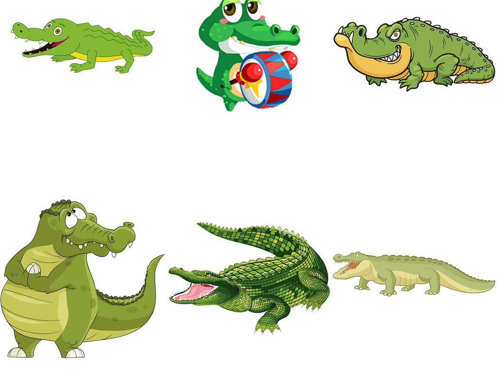 可爱卡通动物鳄鱼设计素材png图片1