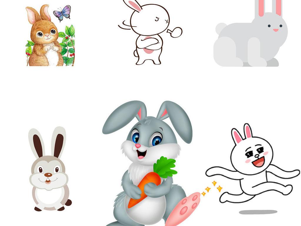 动物卡通兔子免抠png素材2