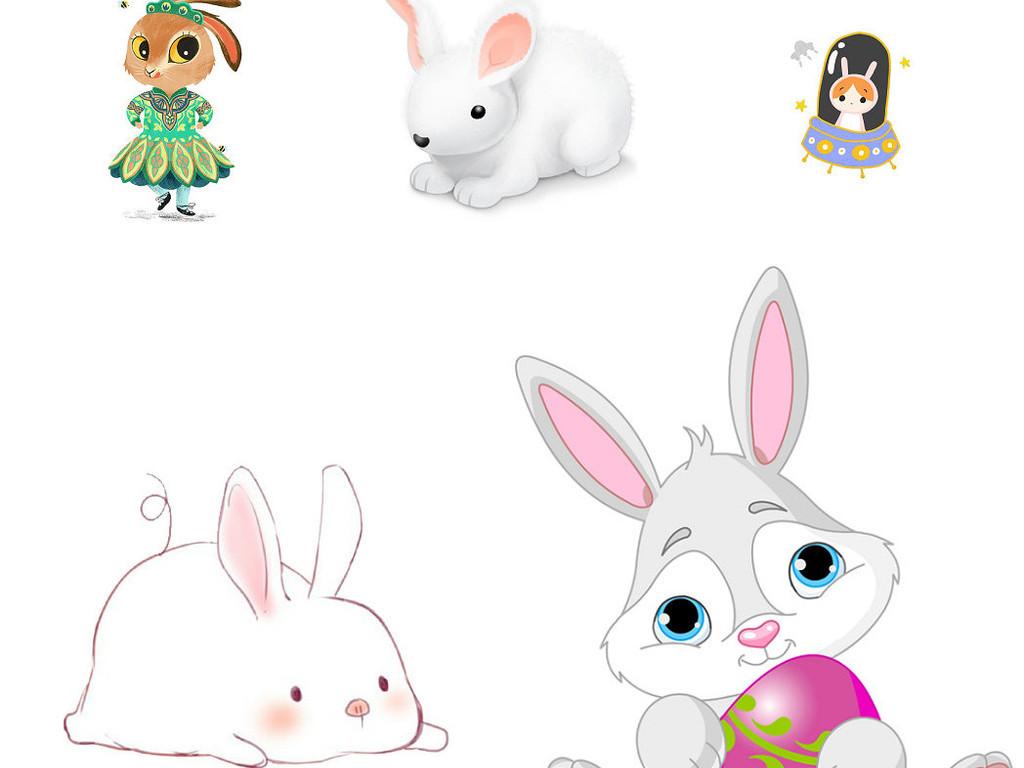 动物卡通兔子免抠png素材3