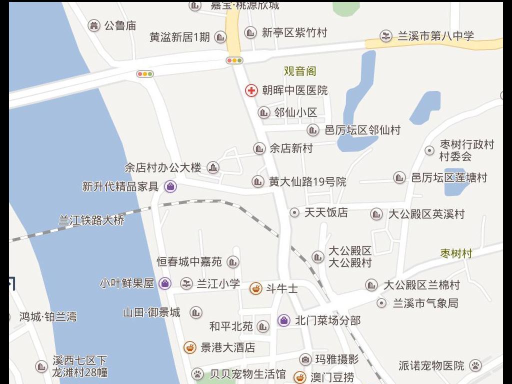 2017兰溪市电子地图兰溪市地图