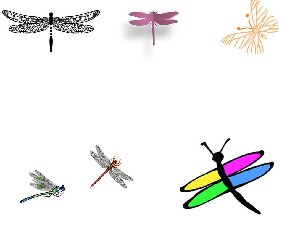 卡通动物昆虫蜻蜓形象设计素材1