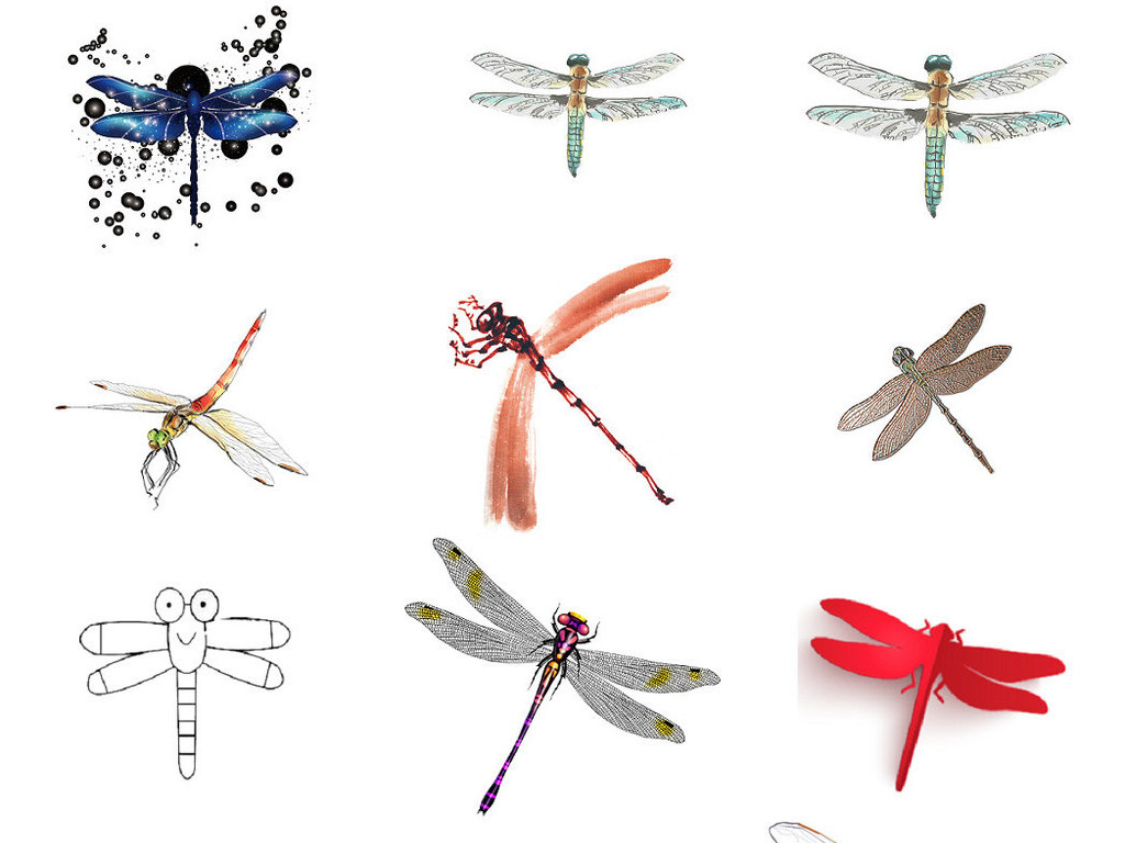 卡通动物昆虫蜻蜓形象设计素材2