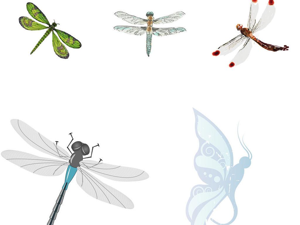蜻蜓卡通素材动物素材动物卡通素材44卡通形象设计卡通小动物