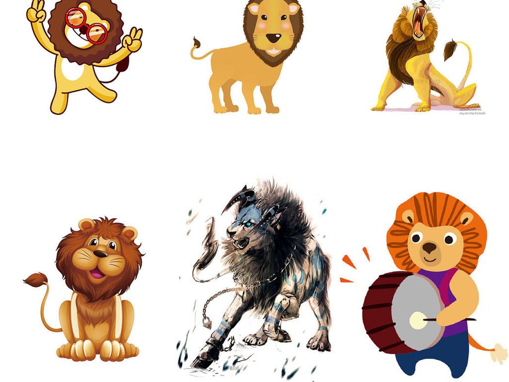 狮子png图片狮子图片笔画1图片爱卡可爱卡通简笔画图片png卡通动物小