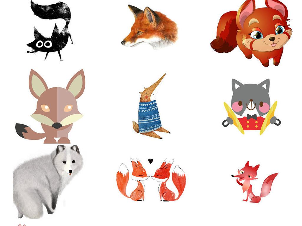 萌哒哒小狐狸卡通可爱小狐狸图片3