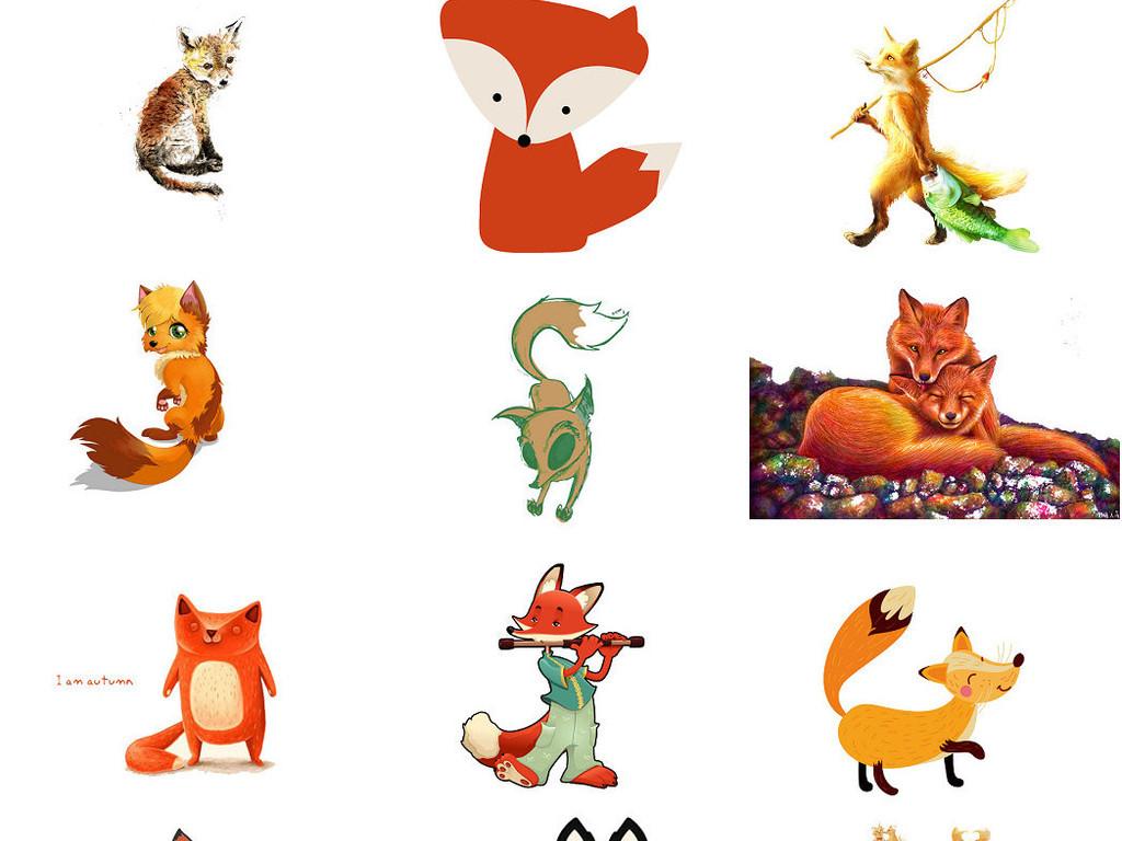 免抠动物狐狸卡通形象设计2