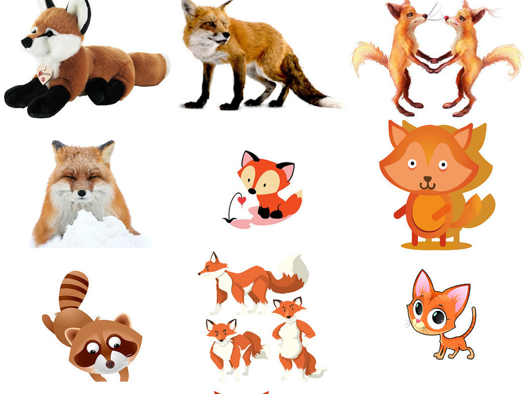 萌哒哒小狐狸卡通可爱小狐狸图片1