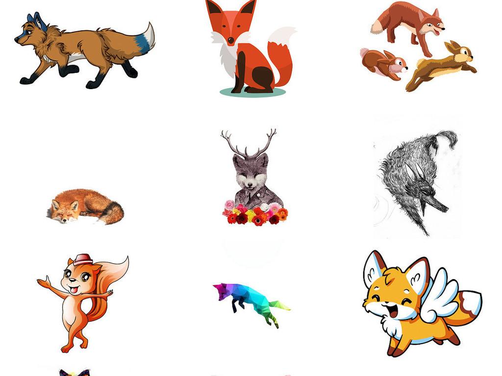 萌哒哒小狐狸卡通可爱小狐狸图片