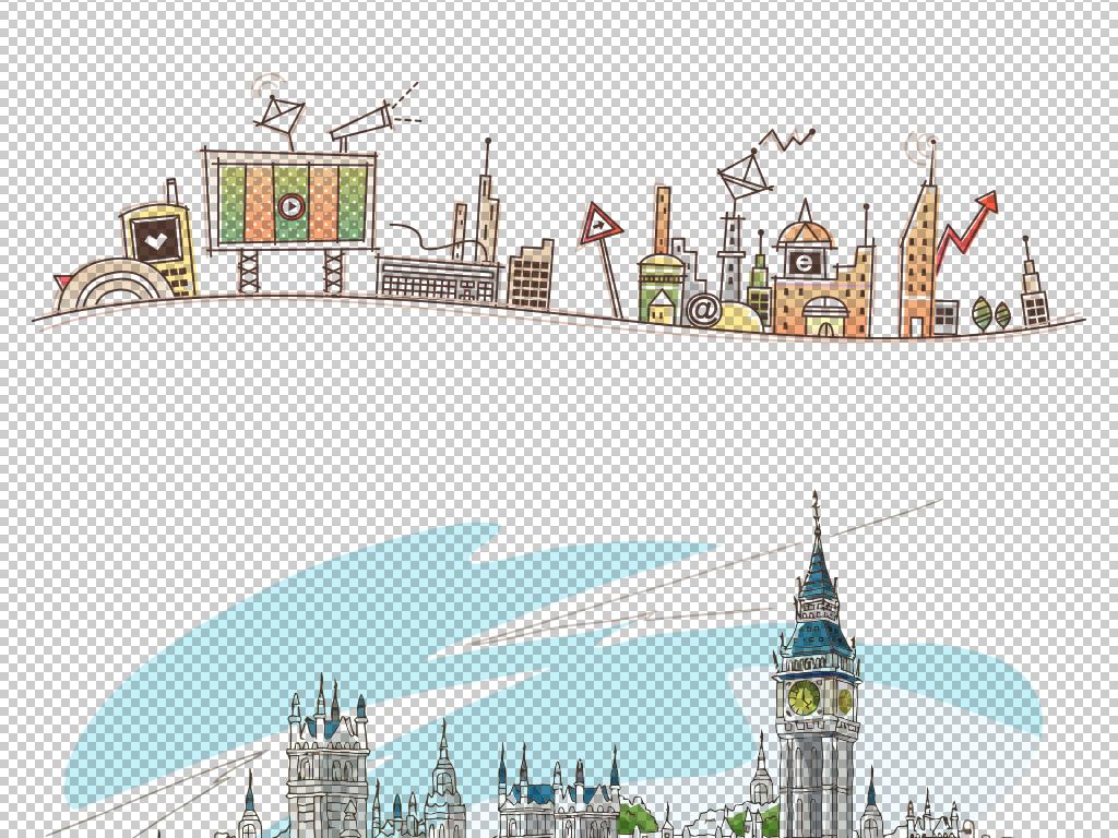 儿童城市剪影