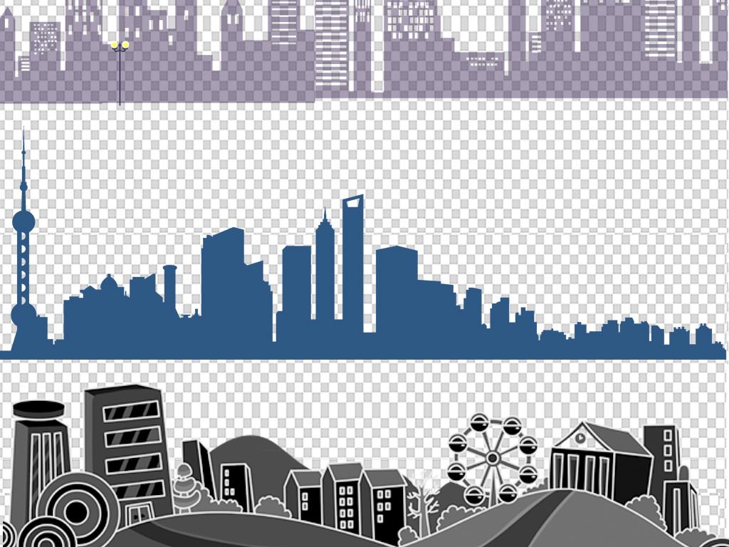 文明城市风景                                          手绘建筑