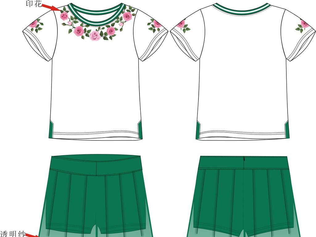 套装款式                                  服装设计服装结构图裙子