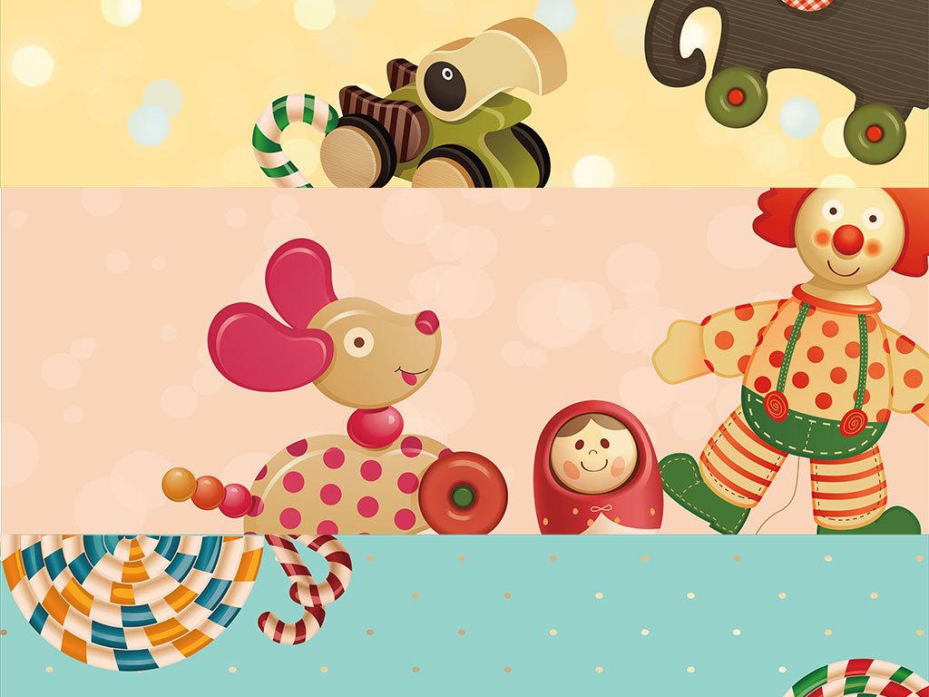 矢量卡通可爱动物背景设计