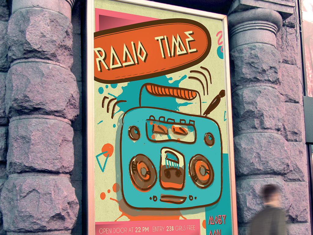 海报设计 创意海报 pop海报 > 手绘涂鸦电台音乐栏目创意海报ps模板