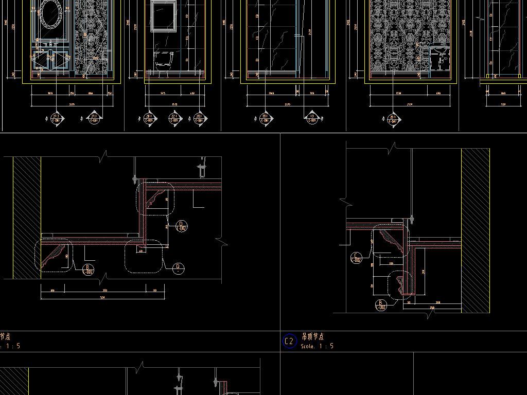 别墅CAD室内设计图 16701342 CAD图纸