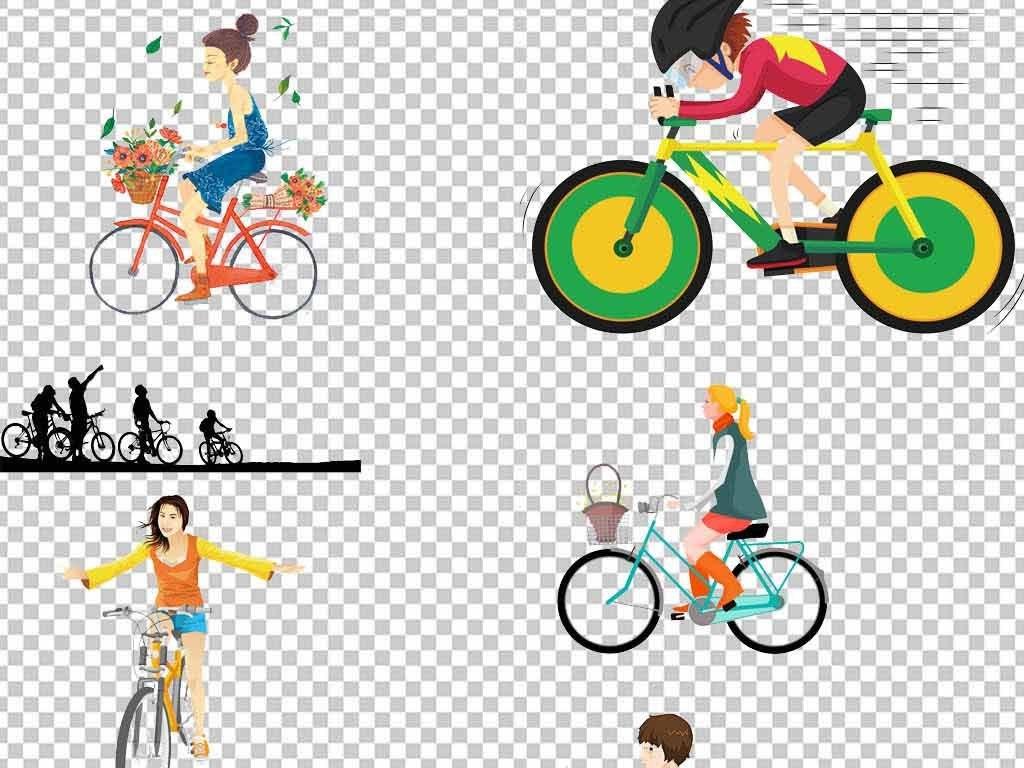 运动骑自行车骑自行车剪影骑行素描自行车手绘卡通卡通手绘单车图片