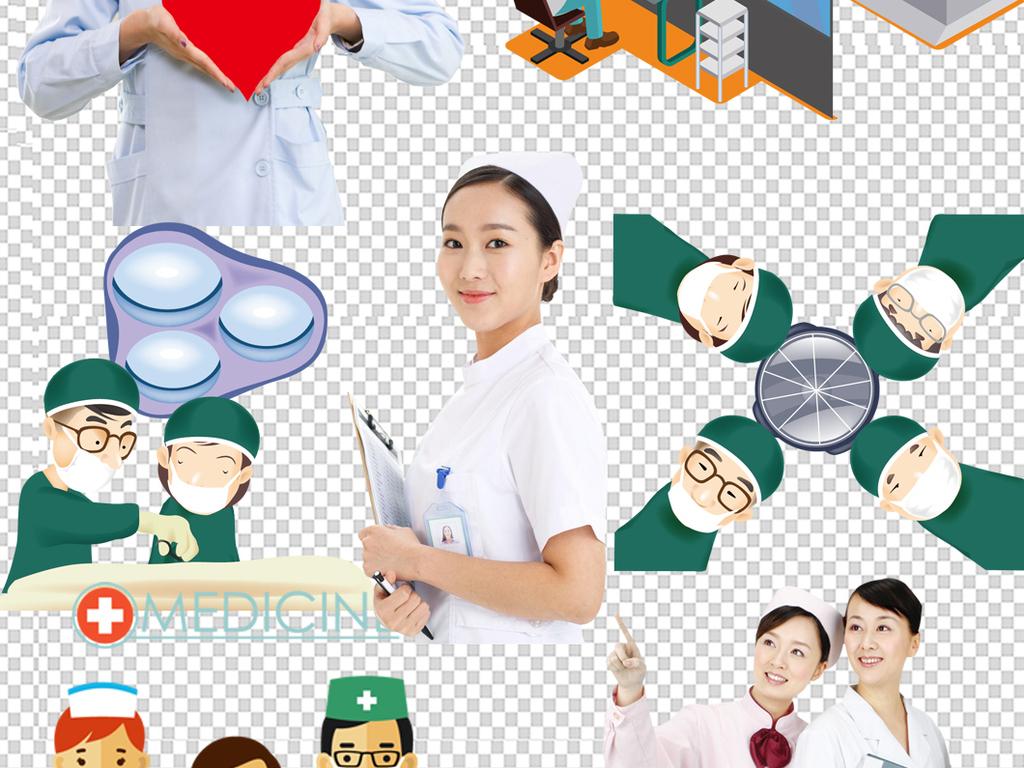 设计元素 人物形象 商务人士 > 卡通医院护士医生医疗设计海报素材图片